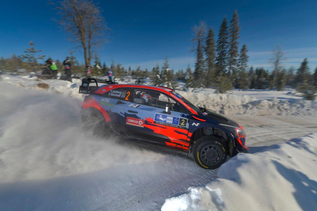 Oliver Solberg back in a WRC car for Rally Italia Sardgena.