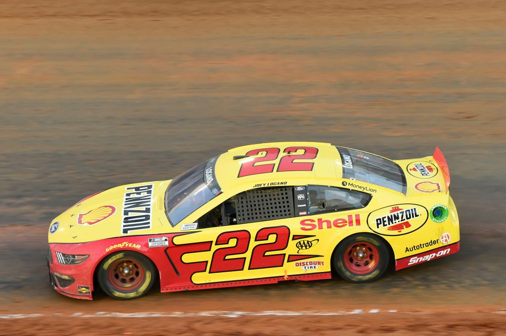 Joey Logano on pole for the NASCAR Cup race at Martinsville