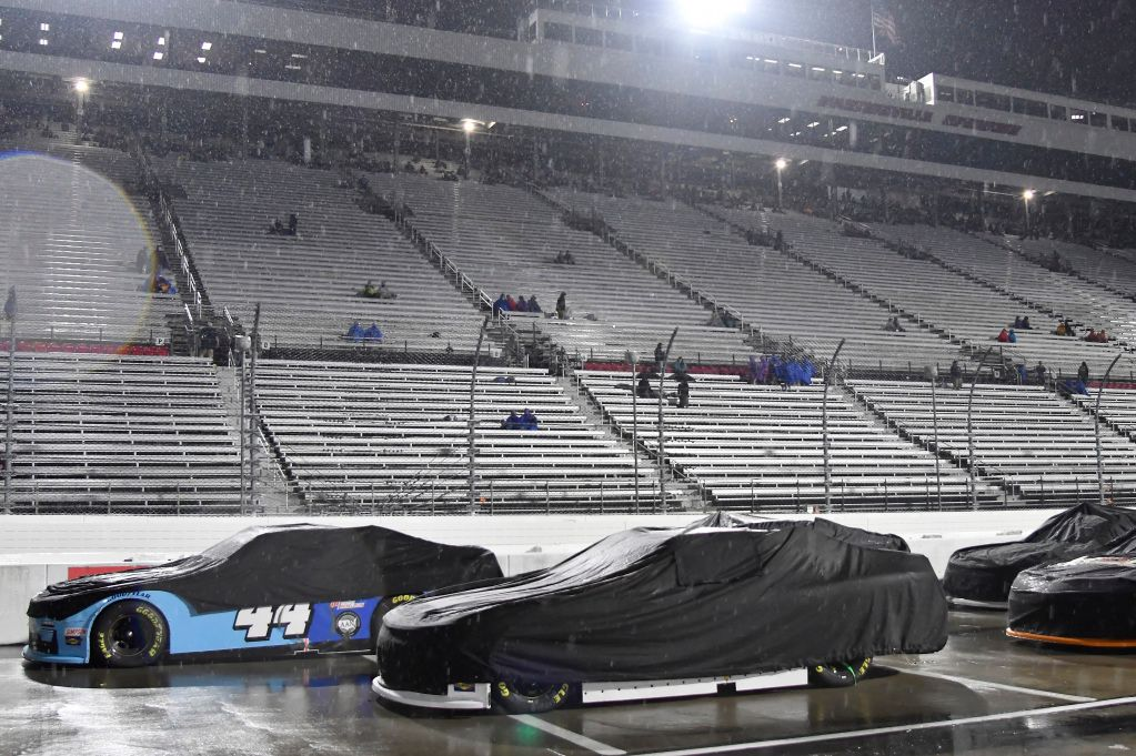 NASCAR Xfinity race halted due to bad weather conditions